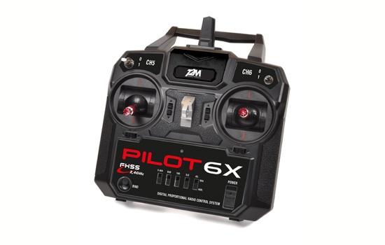 T2M Pilot 6X Fernsteuerung 2.4GHz Modus 2 + 6-Kanal-