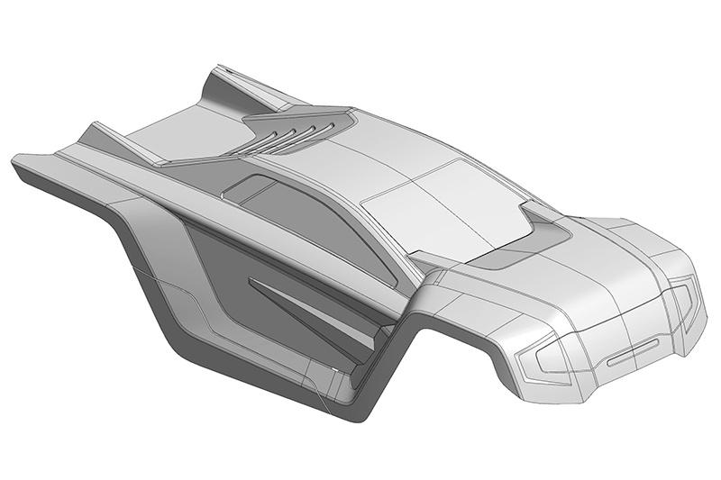 Team Corally Polycarbonate Body - Shogun XP 6S - Clear - Cut
