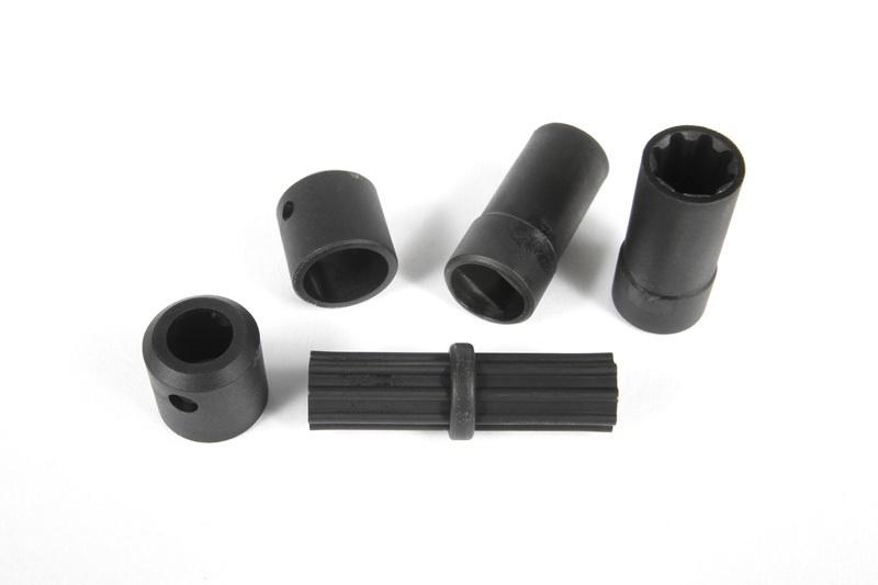Axial - WB8-HD Kardan, kurz, Kunststoffteile Set
