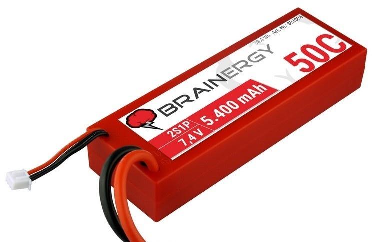 Yuki Model Brainergy LiPo 2s1p 7.4V 5400mAh 50C&XT90-Stecker