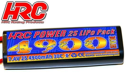 HRC Racing Akku - LiPo 2S - 7.4V 4900mAh 30C - RC Car - HRC