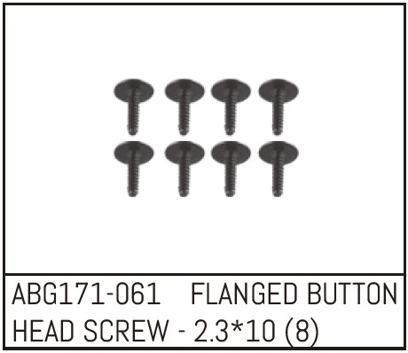Absima Flanged Button Head Screw M2.3*10 (8)