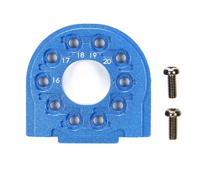 Tamiya TT-02/B Alu Motorhalter Blau eloxiert