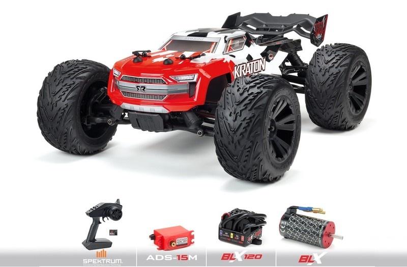 Arrma KRATON 4x4 4S BLX 4WD Brushless Monster Truck -Red-