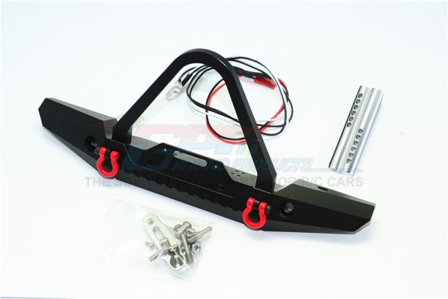 GPM Aluminum front bumper with LED lights for crawlers (B)-