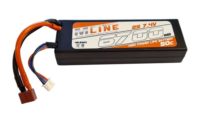 MLine Power Racing 50C - 6700mAh - 2S - 7,4V - T-Plug -