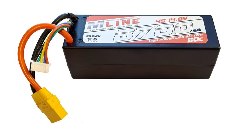 MLine Power Racing 50C - 6700mAh - 4S - 14,8V - XT-90 -