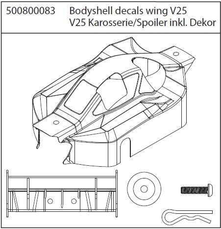 Carson X8 Specter Karosserie,Dekor,Spoiler V25