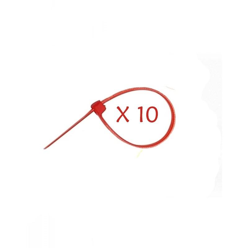 Flexytub Kabelbinder 3mmx100mm Rot (10 Stück)