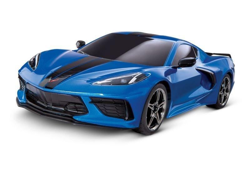 Traxxas 4Tec 3.0 Corvette C8 blau RTR ohne Akku/Lader