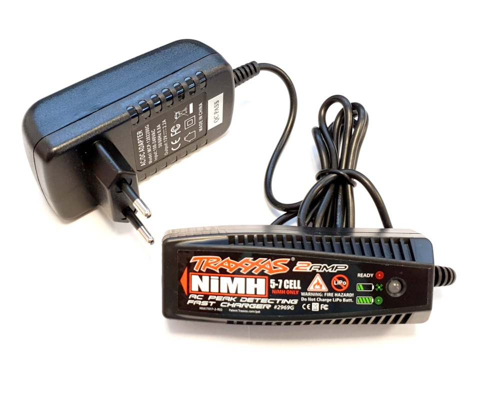 Traxxas Charger, AC, 2 amp NiMH peak detecting (5-7 cell,