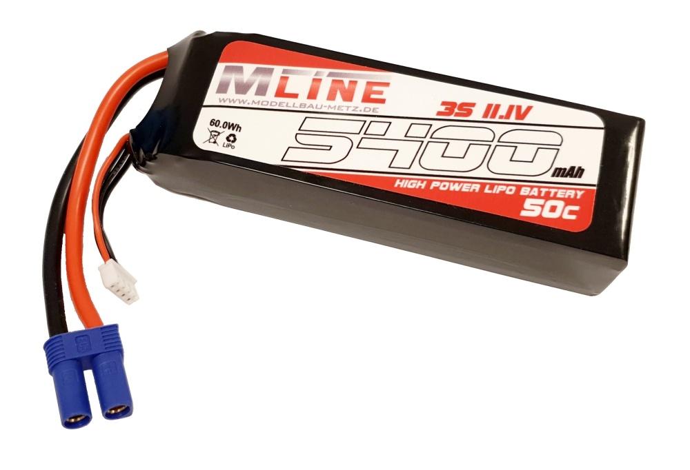 MLine High Power LiPo Akku 50C 3S 11,1V 5400mAh