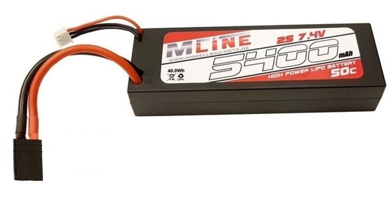 MLine High Power LiPo Akku 50C 2S 7.4V 5400mAh