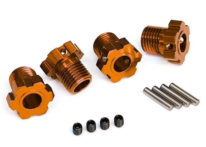 Traxxas Radmitnehmer Splined 17mm (Orange-eloxiert) (4) +