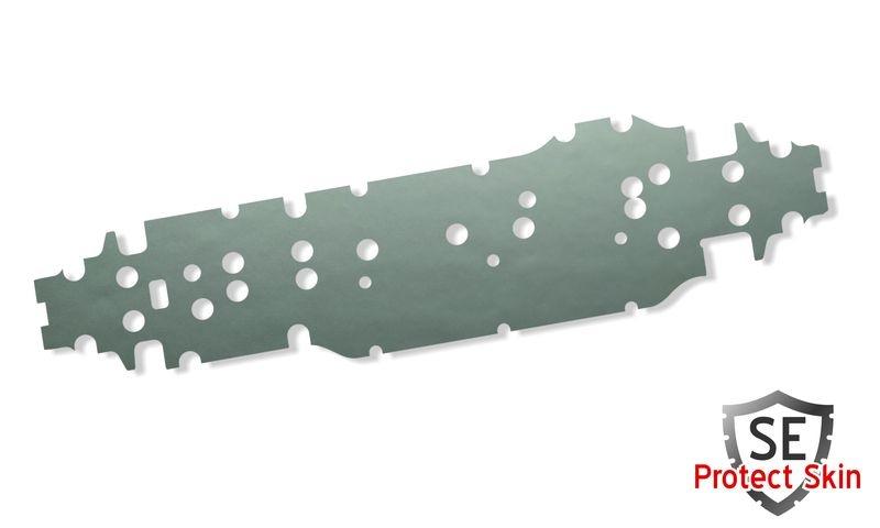 JS-Parts SE Protect Skin Unifarbe Silber Metallic