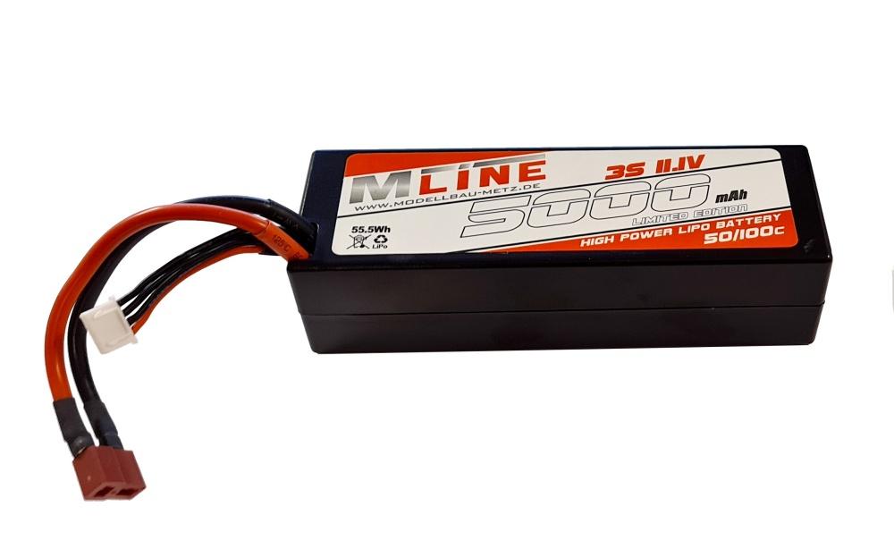 MLine High Power LiPo Akku 50/100C 3S 11,1V 5000mAh T-Plug