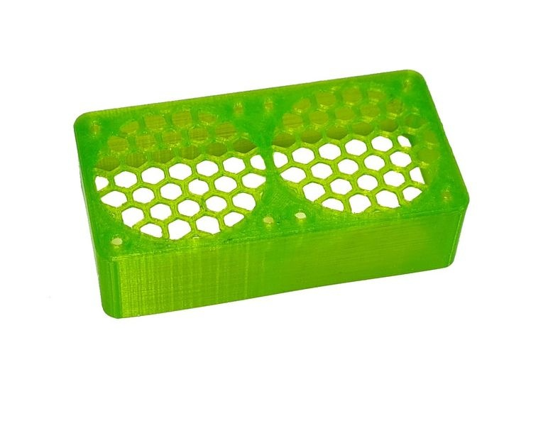 JS-Parts ultraflex Lüftergitter 2x40x20 geschlossen grün