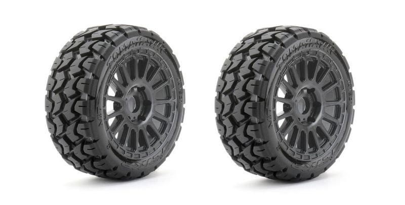 JETKO Extreme Tyre 1:8 Buggy Tomahawk Belted on Black Rim