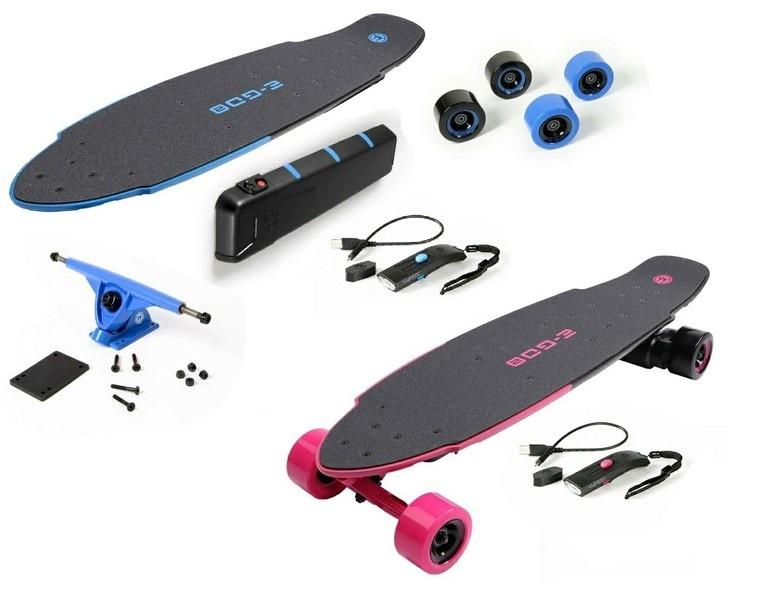 Yuneec E-GO 2 E-Board (Royal Wave) und (Hot Pink)