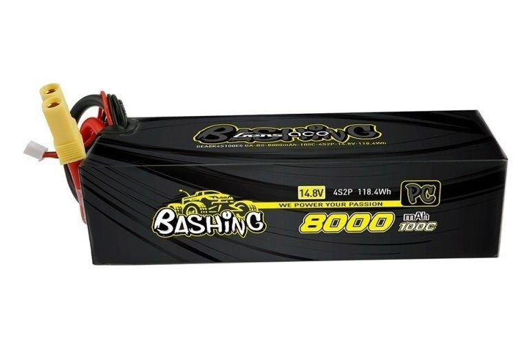Gens ace 8000mAh 14.8V 100C 4S2P Lipo Battery Pack