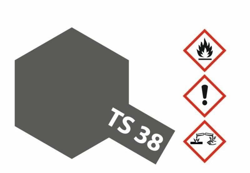 Tamiya Acryl-Sprühfarbe TS-38 Gun Metall seidenmatt 100ml