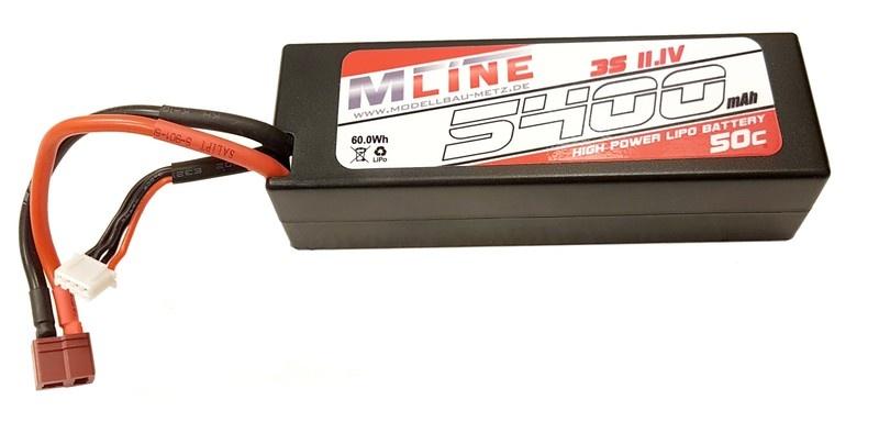 MLine High Power LiPo Akku 50C 3S 11.1V 5400mAh T-Plug