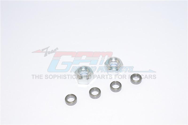 GPM aluminium front wheel hex adapter with bearing- 2PCS Set