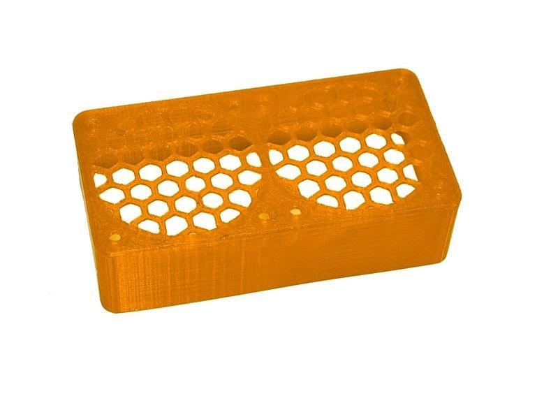 JS-Parts ultraflex Lüftergitter 2x40x20 geschlossen orange