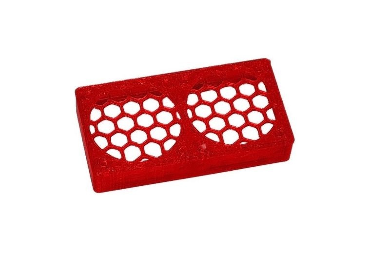JS-Parts ultraflex Lüftergitter 2x30x10 geschlossen rot