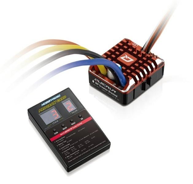 Hobbywing QuicRun WP1080 Crawler Brushed Regler 80A, BEC 6A,