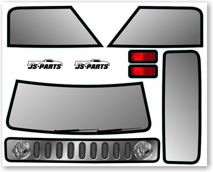 JS-Parts SE Karosserie-Decals für