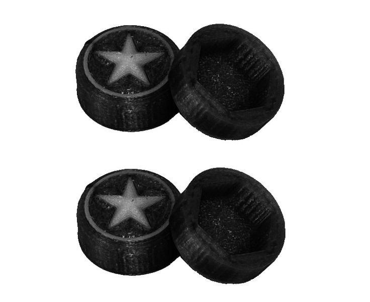 JS-Parts Radnaben-Abdeckung Star schwarz/weiss 1/8 17mm