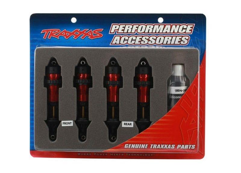 Traxxas GTR Dämpfer (rot) (4) Revo