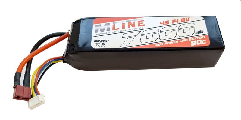 MLine High Power LiPo Akku 50C 4S 14.8V 7000mAh