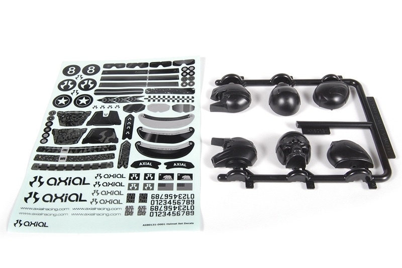 Axial - Helmet Set Black Yeti