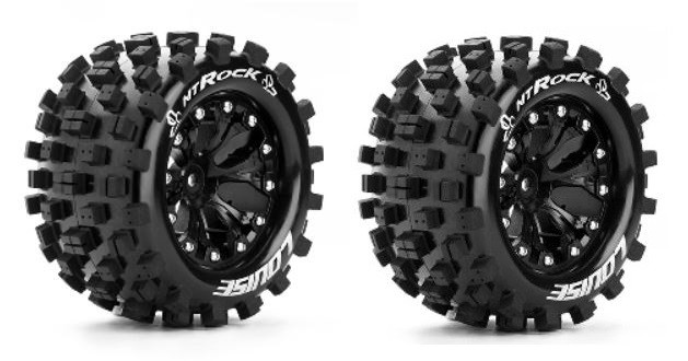 Louise RC MT-ROCK MonsterTruck Reifen 1:10-Fertig Verklebt