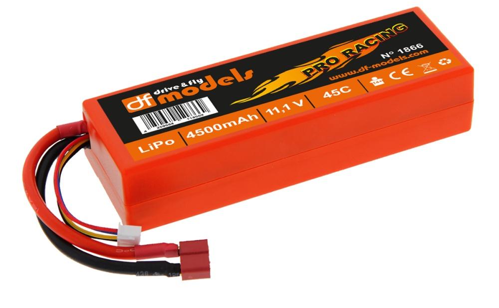 DF Lipo 3S 11,1 Volt - 4500mAh - 45C - eckig - superflach -