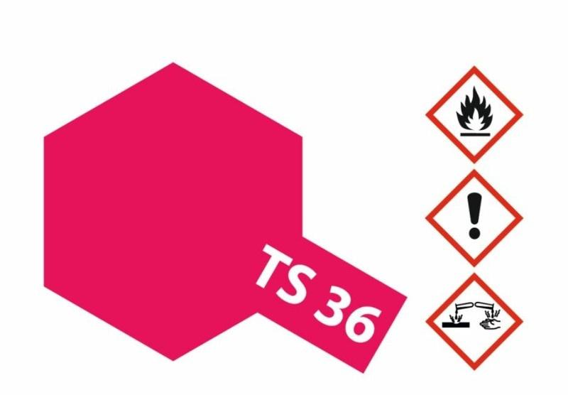 Tamiya Acryl-Sprühfarbe TS-36 Neon-Rot glänzend 100ml