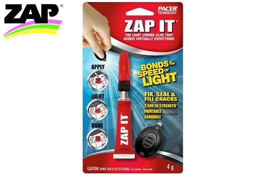 ZAP - SuperGlue - Z90002 - Kleber - ZAP IT - with Blue Light