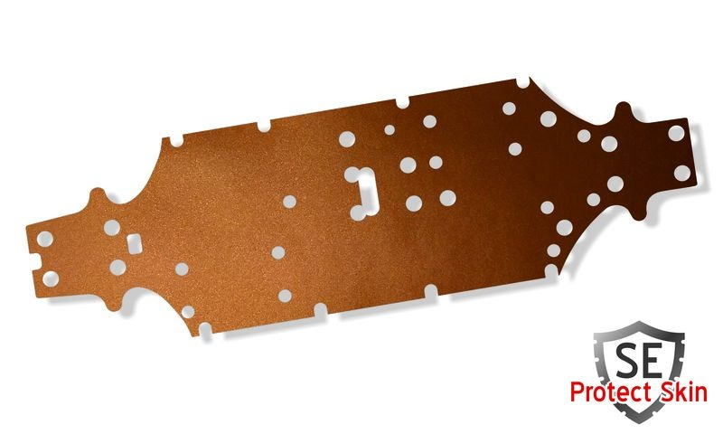 JS-Parts SE Protect Skin Unifarbe Kupfer Metallic