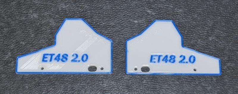 JS-Parts Mudguards ultraflex für Tekno ET48 2.0 weiß/blau