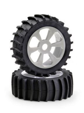 Absima Räderset Buggy 6-Speichen Sandpaddle weiß 1:8, 2