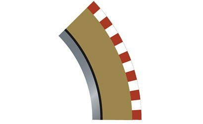 Scalextric SPORT Randstreifen Kurve R2 innen 45(4)
