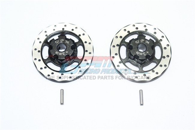 GPM aluminium +3mm hex with brake disk with silver lining -