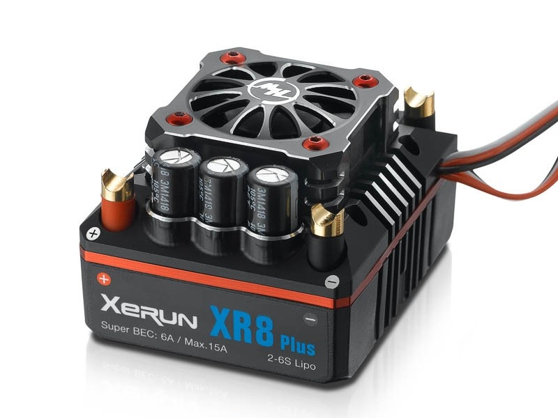 Hobbywing XR8 Plus Brushless Regler 150A, 2-6s LiPo BEC 6A