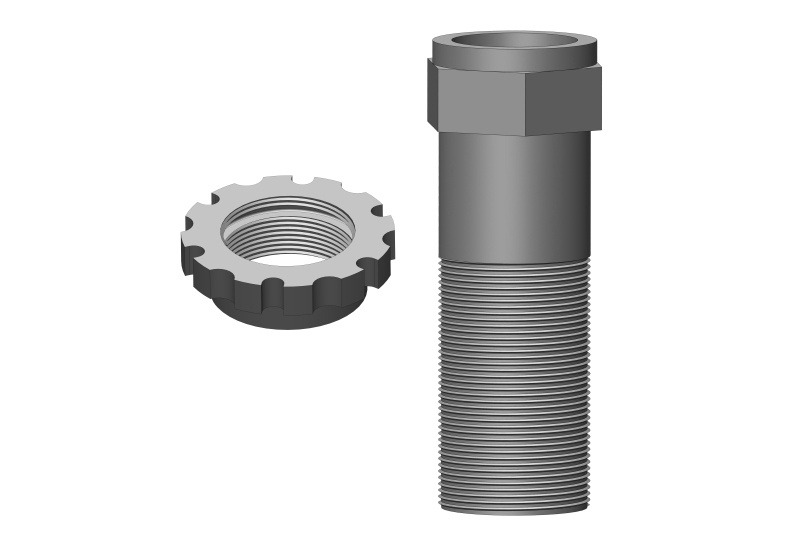 Team Corally Servo Saver Shaft w/ Nut - Aluminum - 1 pc