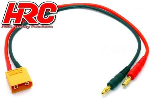 HRC Racing Ladekabel - Gold - Banana Plug zu XT90 Stecker