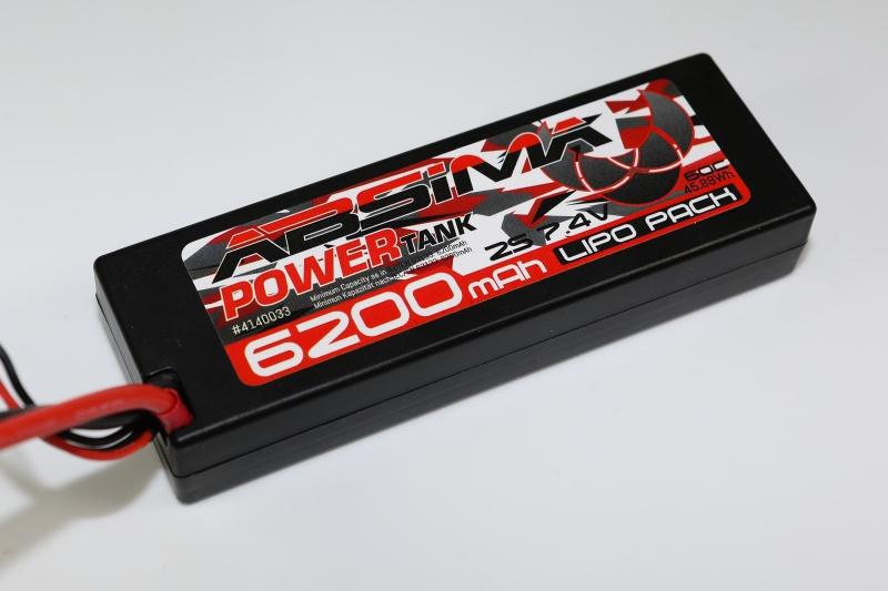 Absima Power Tank LiPo Stick Pack 7.4V-60C 6200mAh HC