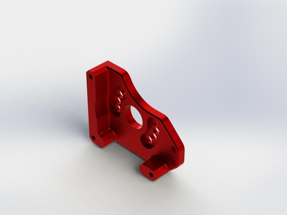 Auslauf Arrma RC Motorhalter Aluminium rot (1)