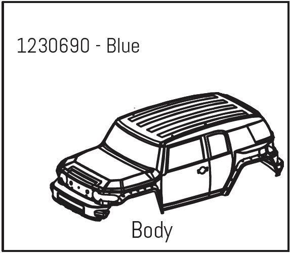 Absima Karosserie blau